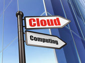 Cloud technology concept: sign Cloud Computing on Building background — Stock Photo