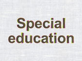 Education concept: Special Education on fabric texture background — Stock Photo