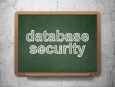 Safety concept: Database Security on chalkboard background — Stock Photo