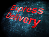 Finance concept: Express Delivery on digital background — Stockfoto