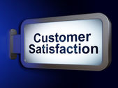 Marketing concept: Customer Satisfaction on billboard background — Foto de Stock