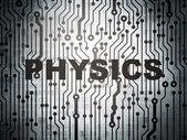 Education concept: circuit board with Physics — Stock Photo