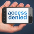 Safety concept: Access Denied on smartphone — ストック写真