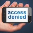 Safety concept: Access Denied on smartphone — Foto de Stock