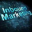 Business concept: Inbound Marketing on digital background — Stock Photo