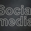 Social media concept: Social Media on chalkboard background — Stock Photo