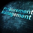 Stock Photo: Business concept: Procurement Management on digital background