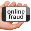 Safety concept: Online Fraud on smartphone — Stock Photo