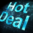 Finance concept: Hot Deal on digital background — Stock Photo
