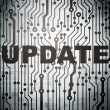 Web development concept: circuit board with Update — Stock Photo