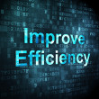 Business concept: Improve Efficiency on digital background — ストック写真
