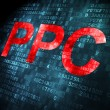 Business concept: PPC on digital background — Stock Photo