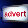 Stock Photo: Advertising concept: Advert on billboard background