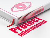 Privacy concept: book Eye, Protect Information on white background — Foto Stock