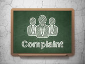 Law concept: Business People and Complaint on chalkboard background — Stock Photo