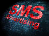 Business concept: SMS Advertising on digital background — Stock Photo