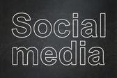 Social media concept: Social Media on chalkboard background — Stock Photo
