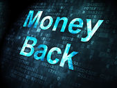Business concept: Money Back on digital background — 图库照片