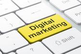 Marketing concept: Digital Marketing on computer keyboard background — Stock Photo