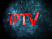 SEO web design concept: IPTV on digital background — Stockfoto