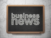 News concept: Business News on chalkboard background — Stock Photo