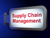 Marketing concept: Supply Chain Management on billboard background — Stock Photo
