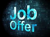 Finance concept: Job Offer on digital background — Stock Photo