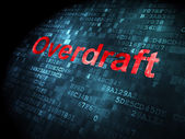 Business concept: Overdraft on digital background — 图库照片
