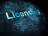 Law concept: Licensing on digital background — Stock Photo