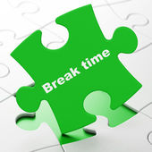 Timeline concept: Break Time on puzzle background — Stock Photo