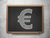 Currency concept: Euro on chalkboard background — Foto de Stock