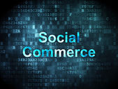 Finance concept: Social Commerce on digital background — ストック写真