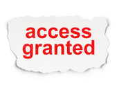 Security concept: Access Granted on Paper background — Foto de Stock