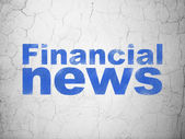 News concept: Financial News on wall background — Stockfoto