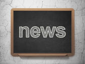 News concept: News on chalkboard background — Stock Photo