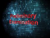 Education concept: Preliminary Examination on digital background — Stock Photo