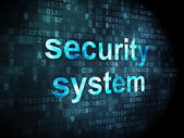 Security concept: Security System on digital background — Stockfoto