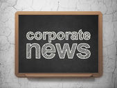 News concept: Corporate News on chalkboard background — Stock Photo