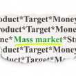 Marketing concept: Mass Market on Paper background — Stock Photo