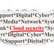 Cloud computing concept: Cloud Security on Paper background — Stock Photo
