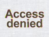 Security concept: Access Denied on fabric texture background — Stock Photo