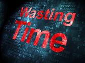 Timeline concept: Wasting Time on digital background — Stockfoto