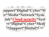 Cloud computing concept: Cloud Security on Paper background — Foto Stock