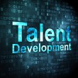 Education concept: Talent Development on digital background — 图库照片