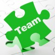 Business concept: Team on puzzle background — Stock Photo