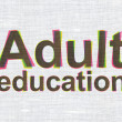 Education concept: Adult Education on fabric texture background — Stock Photo