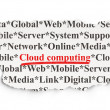 Cloud computing concept: Cloud Computing on Paper background — Photo