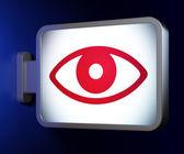 Concetto di protezione: occhio su sfondo cartellone — Foto Stock