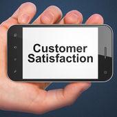 Advertising concept: Customer Satisfaction on smartphone — Stock Photo