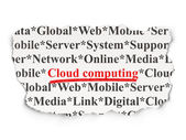 Cloud computing concept: Cloud Computing on Paper background — Stockfoto